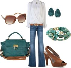 """teal"" by lulums on Polyvore"