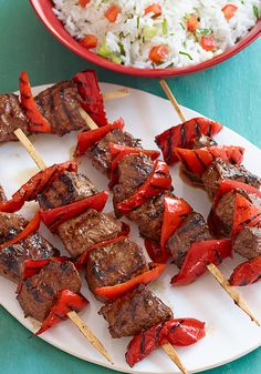 Beef & Red Pepper Kabobs- These kabobs are easy to prepare and make, perfect for your BBQ's