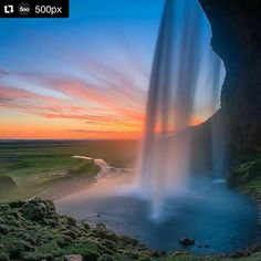 Nice photo!  #Repost @500px with @repostapp  It's Evgeny Tchebotarev the founder of #500px here again. If you have never been to #Iceland be prepared to be amazed by the beautiful nature animals vistas and colours.  This epic sunset shot of Seljalandsfoss is from @michaelbonocore who is with us in Iceland right now preparing for the epic adventure #500pxIcelandTour that starts tonight.  Want to stay in touch with us? Download the new 500px iOS app (link in bio) and search for hashtag…