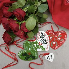 57 Days till Christmas. Personalised Hearts for your loved ones.