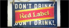 Red Label Drink Labels, Drink Signs, Interiors, Drinks, Red, Decor, Drinking, Beverages, Decoration