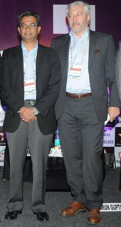 Google's  Rajan Anandan with MSLGROUP CEO Olivier Fleurot