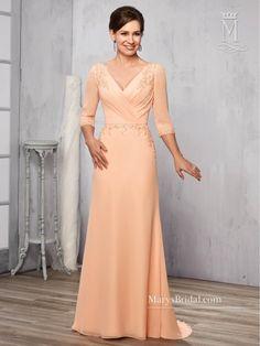 032515cfc0c Marys Bridal M2784 Three-Quarter Sleeve Mother of the Bride Dress