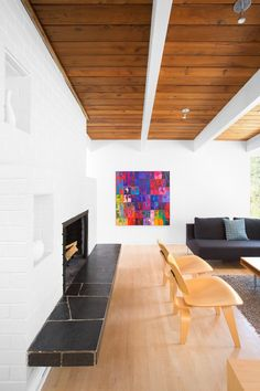 This 1950s post and beam house in Vancouver gets a contemporary renovation