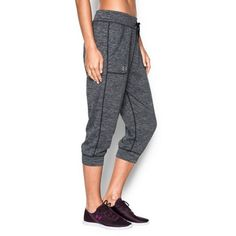 Under Armour Women's UA Twisted Tech™ Capri (2,580 INR) ❤ liked on Polyvore featuring activewear, activewear pants, under armour sportswear and under armour