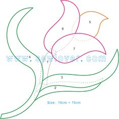 Moldes flores – Naikari Naika – Álbuns da web do Picasa – Handwerk und Basteln Applique Templates, Applique Patterns, Applique Designs, Quilting Designs, Beading Patterns, Flower Patterns, Quilt Patterns, Craft Patterns, Embroidery Designs