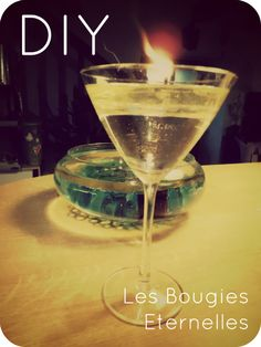 bougies Homemade Candles, Diy Candles, Green Tips, Diy Crafts, Lights, Tableware, Glass, How To Make, Decor