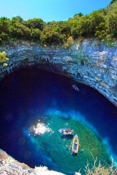 Beautiful Melissani Cave, Kefalonia Greece