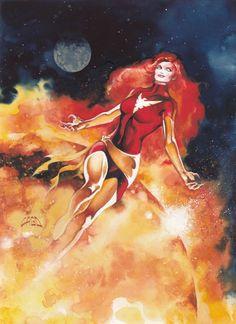 1994 Fleer Ultra X-Men #134 - Dark Phoenix By Ray Lago Comic Art