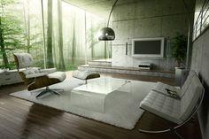 oh YES!!!!!    living room by Viaframe , via Behance