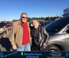 #HappyAnniversary to Robert and Marcia Minnesota on your new car from Everyone at Honda Cars of Rockwall!