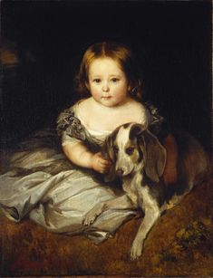 Princess Alice Maud Mary UK by Franz Xaver Winterhalter in Alice was child of Queen Victoria (Alexandrina Victoria) UK & Prince Albert (Albert Francis Charles Augustus Emmanuel) of Saxe-Coburg & Gotha, Germany. Franz Xaver Winterhalter, Queen Victoria Prince Albert, Victoria And Albert, Luis Iv, Reine Victoria, Hesse, Princess Louise, Amor Animal, Portraits From Photos