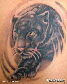 Saddie's black panther tattoo