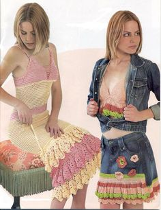 My gypsy style crochet dress and set ♥LCD-MRS♥ with diagrams