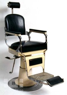 Domkraft (Hydrolic) Barber's Chair -- a. b. NIKE, Eskilstuna, Sweden digitaltmuseum.no