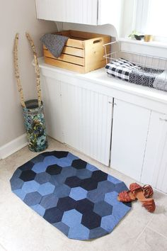 How to Sew a Denim Rug – A Beautiful Mess