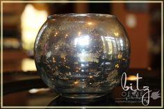 I love Mercury Glass! LOVE!  I have a few antique mercury glass ornaments that are REAL mercury glass and so pretty but very delicat...