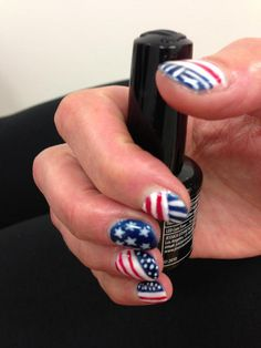 USA is A-OK. Stars and Stripes nail look with Jessica GELeration.