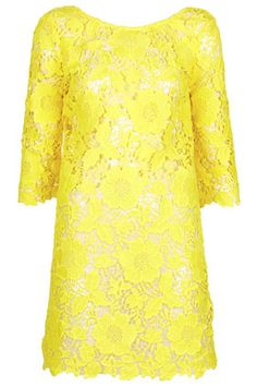Yellow Guipure Kaftan Cover Up