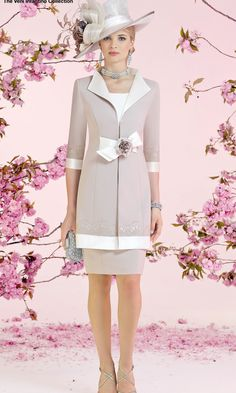 fe78dd45d94 Veni Infantino 991009 occasion wear - Colour Ivory   Taupe - Price A 2  colour block capped sleeve dress