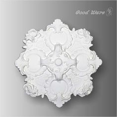 Polyurethane ceiling plate for chandelier. The ceiling medallion adopts classic round shape decorated with intricate and complex roses in exquisite details.