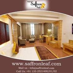 Choose a luxury hotel & start your holiday early Visit Us at: www.saffronleaf.com Or Call Us at: +91 135-2521400/01/02