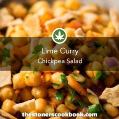 Lime Curry Chickpea Salad from the The Stoner's Cookbook (http://www.thestonerscookbook.com/recipe/lime-curry-chickpea-salad)