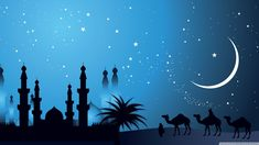 Arabian night design ❤ hd desktop wallpaper for ultra hd tv Islamic Wallpaper Hd, 2015 Wallpaper, Free Desktop Wallpaper, Wallpaper Backgrounds, Widescreen Wallpaper, Moon And Stars Wallpaper, Star Wallpaper, Animal Wallpaper, Islamic Images