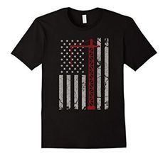 Amazon.com: Vintage American Flag Engineer T-shirt Red Crane $19.99