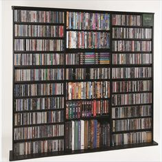 Leslie Dame Oak Veneer High Capacity Wall Rack in Black - CDV-1500B