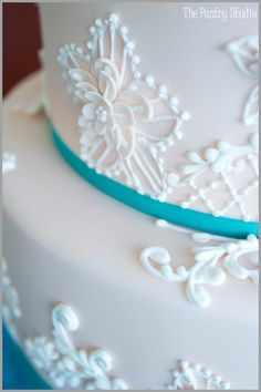 Pastry Studio; royal icing lacework
