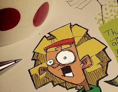 """Check out new work on my @Behance portfolio: """"Day of the Tentacle coffee sketches"""" http://on.be.net/1MgB8JS  #coffeesketch #dayofthetentacle"""