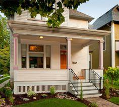 wood pillars front steps | ... Dentil Trim, Flower Beds, Fluted Columns, Front Porch, Front Steps