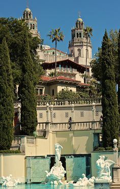 Pool Gardens?: Hearst Castle, San Simeon, California by California Delicious