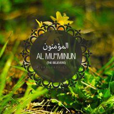 "Al Mu""Minun Surah graphics"