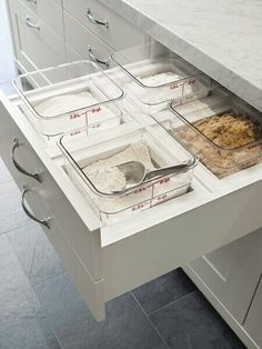 Baking station.......LOVE THIS IDEA..it is better than a spice drawer