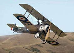 The elder brother of the WWII planes like the Spitfire and the Hurricane, the Sopwith Camel!