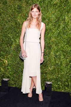Constance Jablonski at Chanel's Tribeca Film Festival party. See all the best dressed looks from the night here.