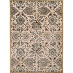"""Stylishly anchor your living room or master suite with this elegant hand-tufted wool rug, showcasing a classic botanical motif for timeless appeal.   Product: RugConstruction Material: WoolColor: Doe skin Features:  Hand-tuftedCotton and latex backing Made in India Pile Height: 0.63"""" Note: Please be aware that actual colors may vary from those shown on your screen. Accent rugs may also not show the entire pattern that the corresponding area rugs have. Cleaning and Care: Vacuum ..."""