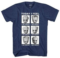 79031ae37 Tees · Marvel Little Groot Today I Feel I Am Groot Guardians of The Galaxy  Men s Adult Graphic