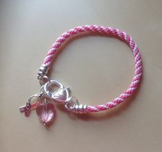 Pink & White Spiral Awareness Friendship by Hopelisa on Etsy