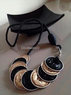 collana africa collana cialde nespresso,piccole perline,perla in corda riciclo creativo