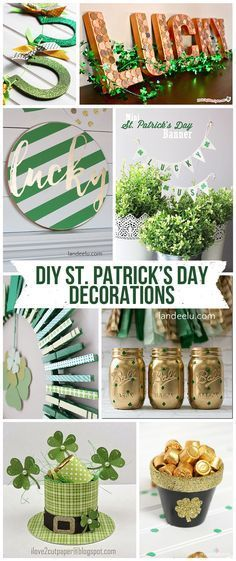 DIY St. Patrick's Day Decorations! So many awesome ideas! | http://landeelu.com