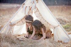 burlap teepee tent photo prop by SugarShacksTeepee on Etsy, $100.00