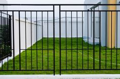 Black aluminum fences are made from square tubes like the fence picture above.