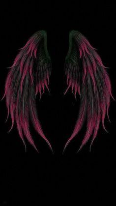 Wings Wallpaper, Angel Wallpaper, Dark Wallpaper, Galaxy Wallpaper, Iphone Wallpaper, Wallpaper Ideas, Iphone Pics, Wallpaper Backgrounds, Angel Wings Drawing