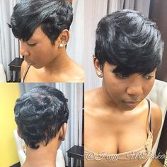 STYLIST FEATURE| Love this #pixiecut ✂️done by #LindenNJ stylist @Heyy_MsParker❤️ Beautiful soft waves and light layers#VoiceOfHair ========================= Go to VoiceOfHair.com ========================= Find hairstyles and hair tips! =========================