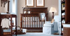Baby Restoration Hardware boy nursery