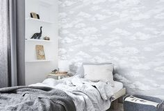 Winter snowdrift wallpaper for your childrens room by Sian Zeng