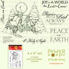 O Holy Night | Power Poppy by Marcella Hawley                   $18.00